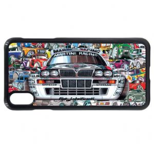 Koolart Stickerbomb & Licensed Lancia Delta Integrale Car Image Mobile Phone Case Cover Fits iPhone
